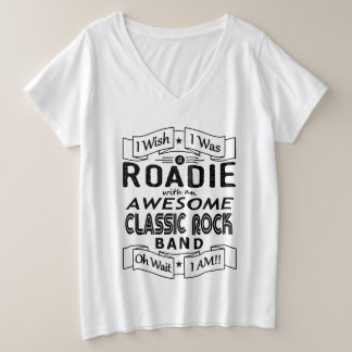 ROADIE awesome classic rock band (blk) Plus Size V-Neck T-Shirt
