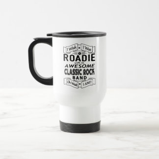ROADIE awesome classic rock band (blk) Travel Mug