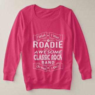 ROADIE awesome classic rock band (wht) Plus Size Sweatshirt