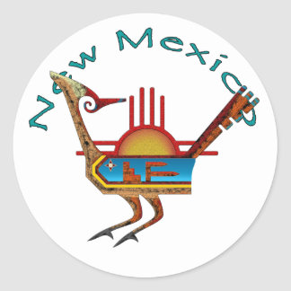 Roadrunner - New Mexico Classic Round Sticker