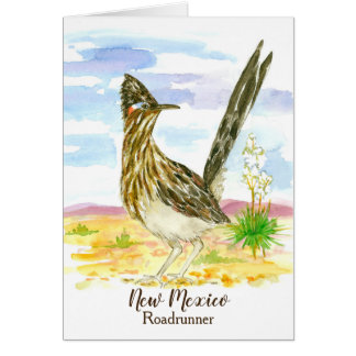 Roadrunner New Mexico State Bird Blank Card