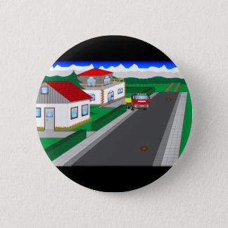 Roads and building of houses 2 inch round button