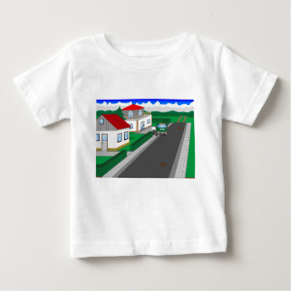 Roads and building of houses baby T-Shirt