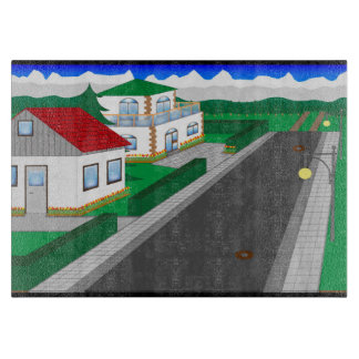 Roads and building of houses boards