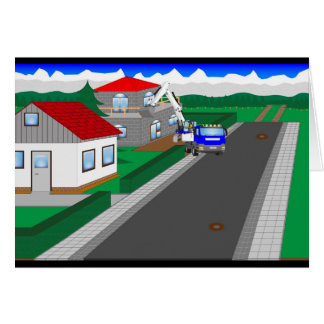 Roads and building of houses card