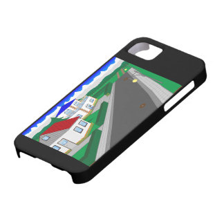 Roads and building of houses case for the iPhone 5