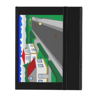 Roads and building of houses cases for iPad