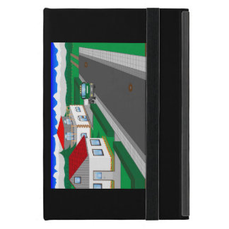 Roads and building of houses cases for iPad mini