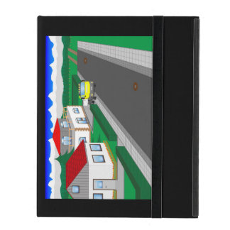 Roads and building of houses cover for iPad
