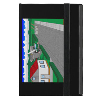 Roads and building of houses cover for iPad mini