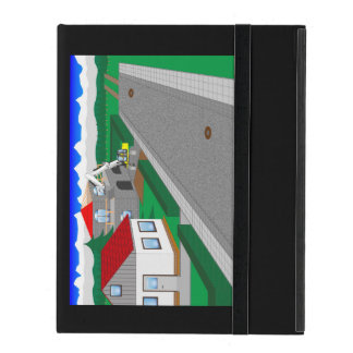 Roads and building of houses covers for iPad