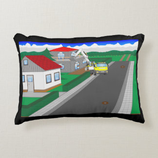 Roads and building of houses decorative pillow
