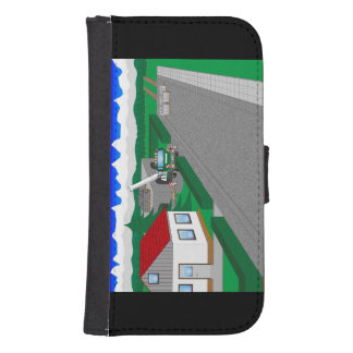 Roads and building of houses galaxy s4 wallet cases