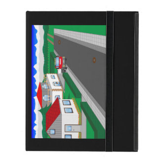 Roads and building of houses iPad cases
