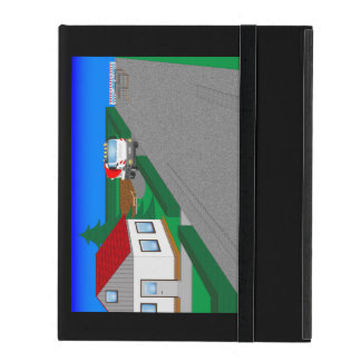 Roads and building of houses iPad folio case