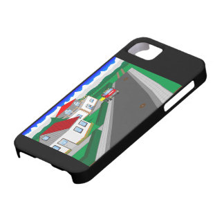Roads and building of houses iPhone 5 case