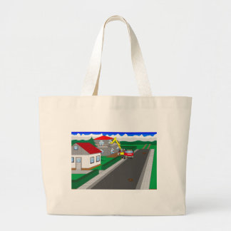 Roads and building of houses large tote bag