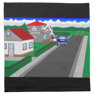 Roads and building of houses napkin