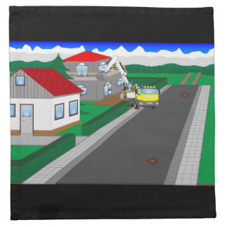 Roads and building of houses napkins