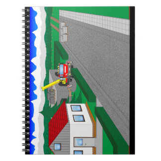 Roads and building of houses spiral notebook