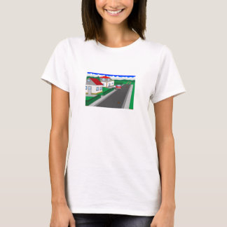 Roads and building of houses T-Shirt