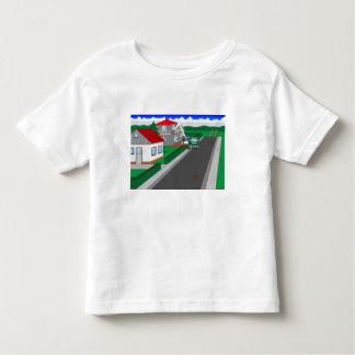 Roads and building of houses toddler t-shirt