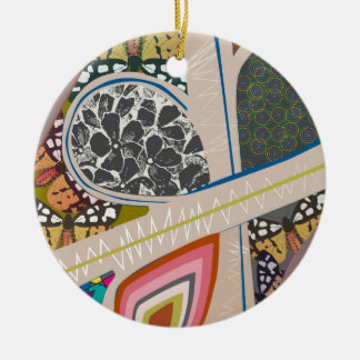 Roads Inspired by Coldplay's MV Up&Up Round Ceramic Ornament