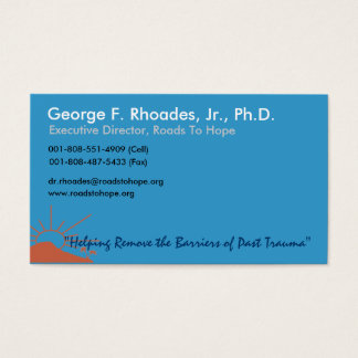 Roads to Hope Business Cards