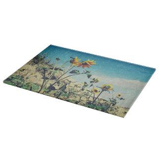 Roadside Conversation Sunflower Cutting Board