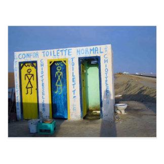 Roadside toilet in Tunisia Postcard