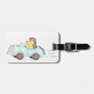 Roadster Hedgehog Bag Tag