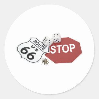 RoadTrip091209 Classic Round Sticker