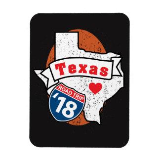 Roadtrip '18 Texas - Black FlexMagnet Magnet