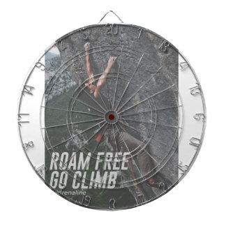 Roam Free Go Climb Rock Wall Adrenaline Dartboard
