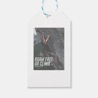 Roam Free Go Climb Rock Wall Adrenaline Gift Tags