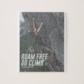 Roam Free Go Climb Rock Wall Adrenaline Jigsaw Puzzle