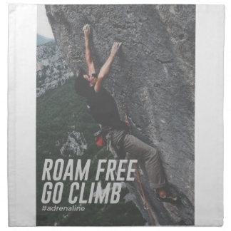 Roam Free Go Climb Rock Wall Adrenaline Napkin