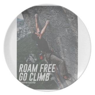 Roam Free Go Climb Rock Wall Adrenaline Plate
