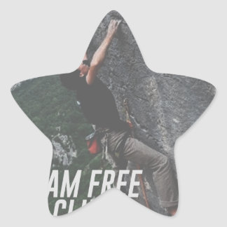 Roam Free Go Climb Rock Wall Adrenaline Star Sticker