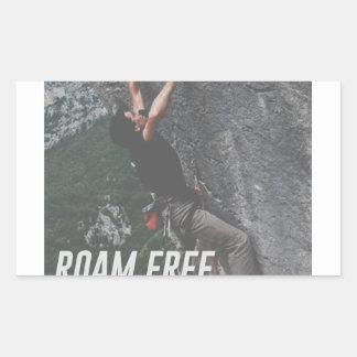 Roam Free Go Climb Rock Wall Adrenaline Sticker