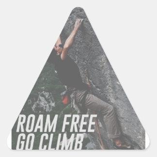 Roam Free Go Climb Rock Wall Adrenaline Triangle Sticker