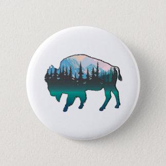 Roaming Yellowstone 2 Inch Round Button