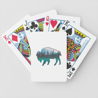 Roaming Yellowstone Bicycle Playing Cards