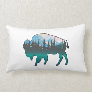 Roaming Yellowstone Lumbar Pillow