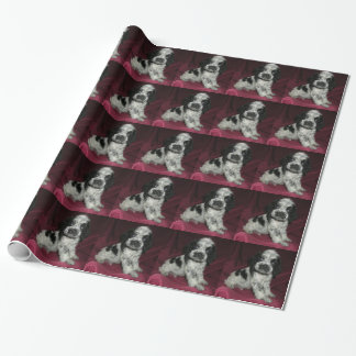 roan american cocker spaniel puppy, Apollo Wrapping Paper
