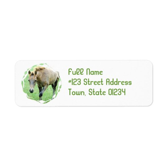 Roan Horse Return Address Label