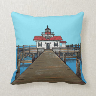 Roanoke Marshes Lighthouse-pillow Throw Pillow