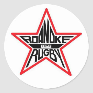 Roanoke Rugby Round Sticker