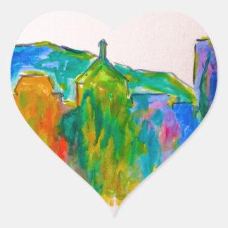 Roanoke Sparkle Heart Sticker