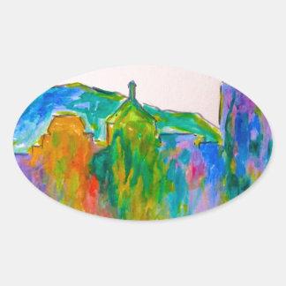 Roanoke Sparkle Oval Sticker
